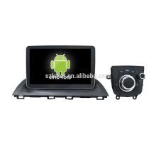 Quatro núcleos! Android 6.0 carro dvd para MZDA 3 com 9 polegadas tela capacitiva / GPS / Link Mirror / DVR / TPMS / OBD2 / WIFI / 4G