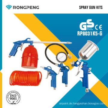 Rongpeng R8031k5-G 5 STÜCKE Air Tool Kits Spritzpistole Kits