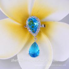 Top Qualität Zirkonia mit Perle Brosche für Hochzeitsstrauß Großhandel Hijab Pins
