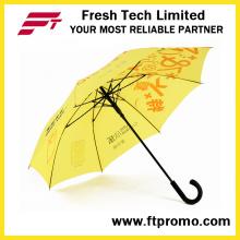 Parapluie droit auto-ouvert de 23 pouces pour personnalisé