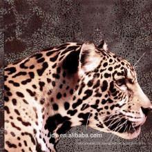 Tejido impreso diseño leopardo 3D