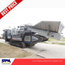 High capacity mobile vibrating screen crushing plant, limestone crusher portable