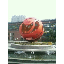 Modern Large Arts Stainless steel Sphere Sculpture for garden decoration