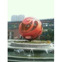 Современное крупное искусство Сфера из нержавеющей стали Скульптура для украшения сада