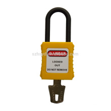 slim insulated nylon shackle safety padlock