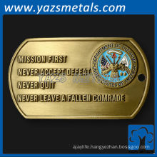 Die cast metal dog tags
