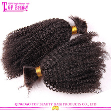 Cheap wholesale bulk hair for braiding curly unprocessed 100% human bulk hair