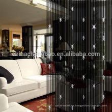 Proveedor de China cadena al por mayor hecha a mano rebordeada pvc cortina