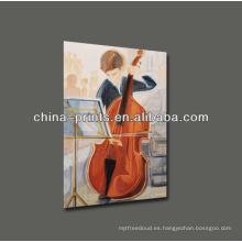 Pintura al óleo de violoncello