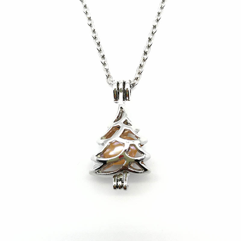 Christmas Tree Cage Pendant Chain
