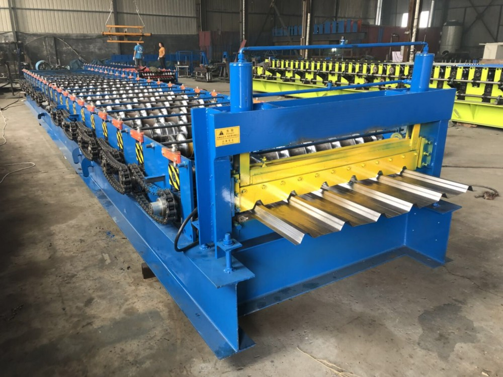 Single Layer Trapezoidal Roof Sheet Rolling Forming Machine