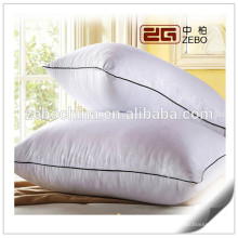 233TC algodão cobrir alta qualidade microfibra enchimento branco hospital travesseiros