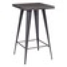 Industrial High Square Natur Metall Bar Tisch