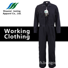 Man's Embroidery Long Black Overall