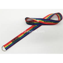 Flat Polyester Lanyards Custom Color