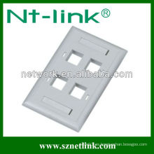 FacePlate modular, placa frontal de 2 puertos, RJ45 FacePlate, placa frontal de China