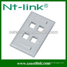 Faceplate modulaire, plaque frontale à 2 ports, RJ45 FacePlate, plaque frontale en Chine