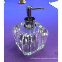 Mode und spezielle 80 ml Hause Crystal Glass Soap Bottle