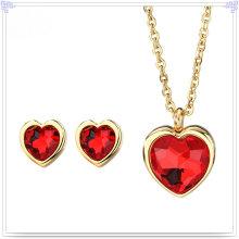 Crystal Jewelry Stainless Steel Jewelry Fashion Jewelry Set (JS0131)