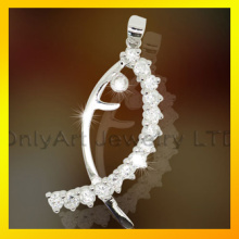 New Design Fahion Fish 925 Sterling Silver Lady's Necklace Costume Jewelry