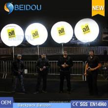 Рекламные шары ПВХ Ходьба Освещение Мячи Надувной Рюкзак Воздушный шар
