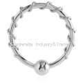Surgical Steel Ball Closure Fixed Bead Ring