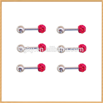 Mordern colorful gemstone barbell type stud earring