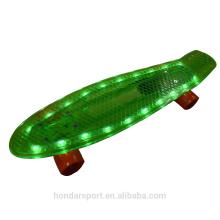 NOUVEAU DESIGN HOT SELLING LED PLASTIC MINI SKATEBOARD CRUISER DECKS