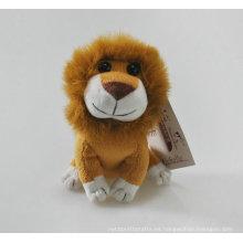 Suave felpa animal león mini juguete relleno de león