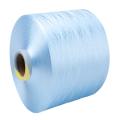 Nouveau fil de polyester pré-orienté recyclé teint