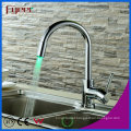 Fyeer Brass Sink LED Kitchen Faucet, Power by Water Pressure, No Battery Water Mixer Tap Bibcock