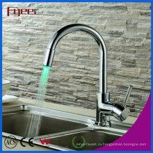 Fyeer Латунь раковина привело кухонный Кран, сила давления воды, без аккумулятора воды Кран Кран