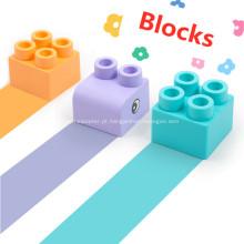 blocos de construção de plástico macio blocos de construção de bebê de brinquedo
