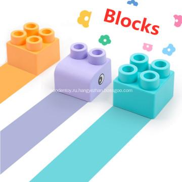 мягкие пластиковые строительные блоки игрушки детские строительные блоки
