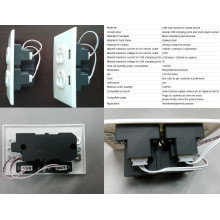 2014 Wholesale USB Wall Outlet //Wall Outlet with USB USB Power Outlet