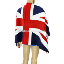 30*60'' promotional 100% cotton England National Flag towel for beach