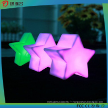 Lumière de ficelle de forme de Pentastar colorée pour la lumière de décoration