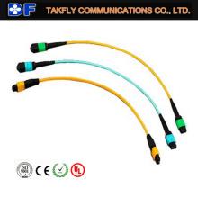 Puente de fibra óptica MTP de 12 fibras