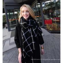 Новый осенний и зимний имитации кашемир пары черный плед шарф
