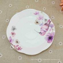 Les meilleures ventes de porcelaine émaillée en gros émaillée blanche assiettes