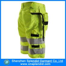 Atacado Mens Calças de carga alta visibilidade Shorts com muitos bolsos