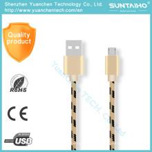 Cable de datos USB micro de carga rápida del teléfono móvil para el teléfono de Samsung Android