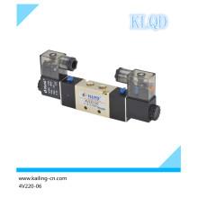 4V220-06 Two-position Five-way Aluminum 24V DC pneumatic Solenoid Valve