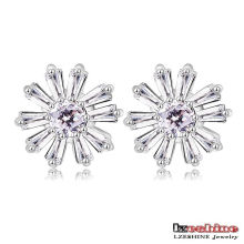 Zircon Snowflake Female Stud Earrings Custom (CER0210-B)