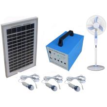 O sistema de energia home solar da economia de energia 100W 40W com diodo emissor de luz ilumina fãs e aparelhos de televisão