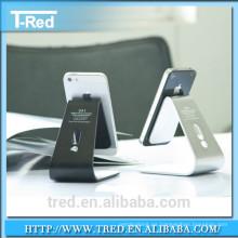 Soporte de mesa de alta calidad del metal para el teléfono móvil con el gancho con el empaquetado de la caja al por menor