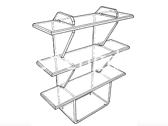 Acrylic Vertical Shelf