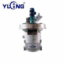 7 ° YULONG 220v máquina de fabricación de pellets de combustible