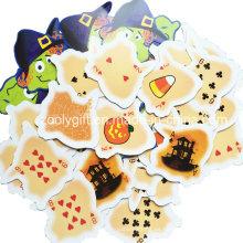 Die-Cut Juegos de mesa Juegos de cartas para niños / Halloween Juegos de cartas impresas personalizados Juegos al por mayor