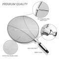 Stainless Steel Splatter Screen With Foldable Handle